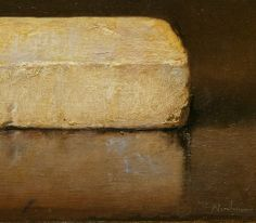 odd nerdrum. white brick. hand-ground paint based on linseed oil and egg on canvas on cardboard. 1984.