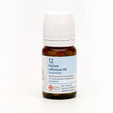 12 Calcium sulfuricum | Principales dolencias que trata: Molestias dentales, Bronquitis crónica