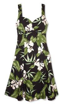 Molokini Dark Hawaiian Dress