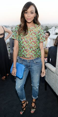 click to shop Ashley Madekwe's adorable outfit