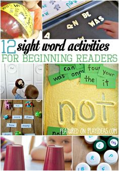 12 sight word activities for beginning readers