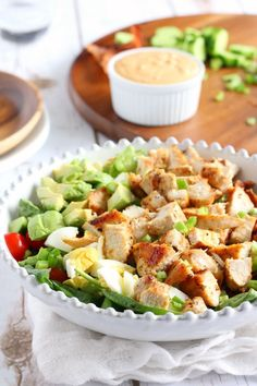 paleo chicken cobb salad: another easy version to try! Even if you're not doing Paleo, these are some very easy and delicious salad recipes to try. You can easily swap in the ingredients you and your family enjoy!