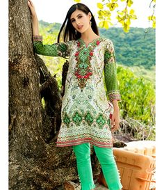 Tanzaib Kurti Shalwar Collection 2016 by Shaista Textiles D_113