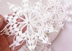 Crochet Patterns Christmas Crochet snowflakes hanging winter decorations crochet from Edangra Crochet Christmas Ornaments, Holiday Crochet, Crochet Snowflakes, Handmade Ornaments, Handmade Christmas, Christmas Decorations, Hanging Decorations, Christmas Knitting, Hanging Ornaments