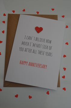 Funny Anniversary Card, Cute, Humour, Cheeky, fun - I can't believe £1.99