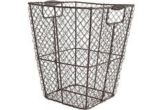 Large Wire Mesh Square Basket