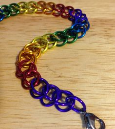 Rainbow Chainmaille Bracelet by LTsMailleOrder on Etsy