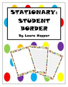 Perfect stationary for classroom writing.