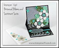 Stampin Up Botanical Blooms easel card by Sandi @ www.stampinwithsandi.com