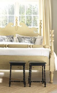 A classic, updated. The Chatham Bed in Vanilla Bean from Somerset Bay. #painted #furniture