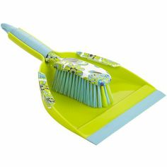 nerd alert... this matches my kitchen and I want it. Paisley Brush & Dustpan Set