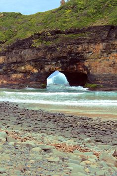 """You could say it was kind of a """"hole in the wall."""" (Coffee Bay, South Africa)"""