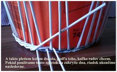 Opletok štyrmi (schovanie dna) :: Moje papierové šialenstvo Diy Paper, Paper Crafts, Dna, Decoration, Magazine Rack, Weaving, Basket, Knitting, Storage