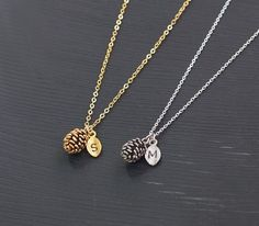 Rose Gold Pine Cone Necklace LENGTH: 16 PENDANT SIZE: 8*10mm Gold/ white gold Plating over Brass finding and chain. * jewelry shipped with a gift