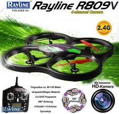 RC Quadrocopter Rayline R809V 2.4 GHz 4-Kanal XXL-Drohne