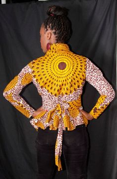 African chic madam shirt by Gitasportal2011 on Etsy, £40.00