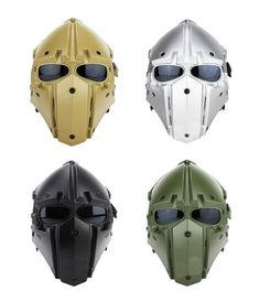 Tactical Airsoft Paintball Helmet And Mask 2in1Protective Gear Full Face HL91   eBay