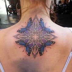 Mandala and Butterfly Tattoo - 30+ Intricate Mandala Tattoo Designs  <3 <3