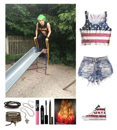 """""""Funny day at the park with Michael"""" by emma-directionner-r5er ❤ liked on Polyvore featuring Converse, LORAC, Lord & Berry, NARS Cosmetics, BKE and Paul Smith"""