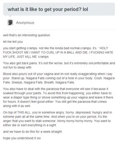 What it's like to get your period...best description ever