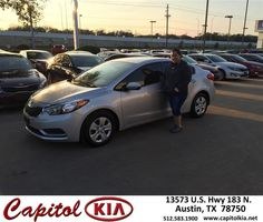 https://flic.kr/p/E3RqmB | Happy Anniversary to Norma on your #Kia #Forte from Robert Bills at Capitol Kia! | deliverymaxx.com/DealerReviews.aspx?DealerCode=RXQC