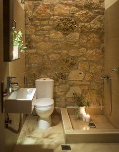 home decor bedroom area Rustic Bathroom Designs, Rustic Bathrooms, Bathroom Design Small, Bathroom Layout, Bathroom Interior Design, Stone Bathroom, Stone Shower, Old Stone Houses, Outdoor Bathrooms
