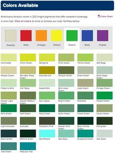 19 Unique Americana Craft Paint Color Chart