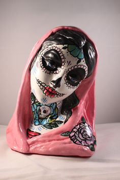 Day of the Dead Virgin Mary by CalaverasArt on Etsy