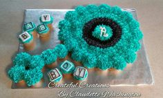 Baby Rattle cupcake cake …