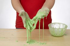 This is a classic recipe for homemade slime. It's super-easy and fun! Even adults can have fun with slime.