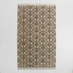 Hand woven in India from recycled plastic bottles, our graphic design area rug is a great choice for high traffic areas. This exclusive, easy care rug is surprisingly soft underfoot and will not shed.