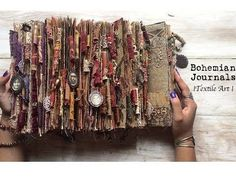 Hello my beautiful Amity Bloom family! I am so excited to present to you all my new collection of bohemian journals! Handmade Journals, Handmade Books, Fabric Journals, Art Journals, Textiles, Creative Journal, Scrapbook Journal, Journal Covers, Art Journal Inspiration