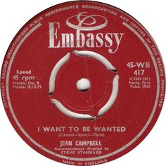 45-WB 417. I Want To Be Wanted. Jean Campbell. 45.