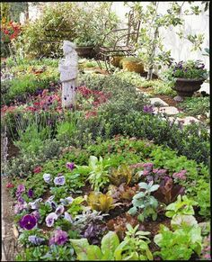 Medieval Monastery Gardens | the garden she says linear gardens have so much potential