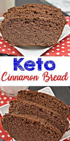 Here is a quick & easy homemade cinnamon keto bread recipe. If you are looking for a delicious, tasty loaf bread for a low carb diet then try this one out. Yummy almond flour keto bread recipe that is great for a grab & go breakfast, snack, dessert o Best Keto Bread, Low Carb Bread, Low Carb Keto, Keto Desserts, Keto Snacks, Bread Recipes, Low Carb Recipes, Diet Recipes, Diet Meals