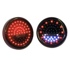 LD-RRW2-Small Jeep Tj, Led Tail Lights, Red And White, Design, Design Comics