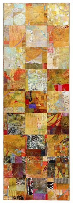 Sue Benner: Artist - Walking Through Time Galéria Fiber Art Quilts, Textile Fiber Art, Textile Artists, Tachisme, Fabric Painting, Fabric Art, Gustav Klimt, Textiles, Quilting Designs