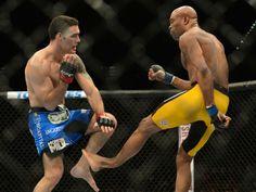 Chris Weidman e Anderson Silva lutam em Las Vegas, nos Estados Unidos (Foto: Jayne Kamin/ Reuters)Será que ele sera o mesmo