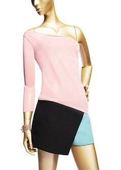 Versace - Asymmetrisches Top in Rosa