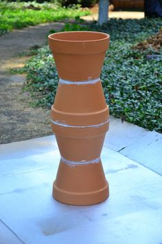 Homemade Flower Pot Bird Bath (pour painting) - In Lieu of Preschool