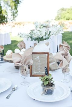 Love the table marker and potted plant gift! by alfreda