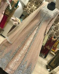 Pakistani bridal dress/ partywear Beautiful bridal/ partywear dress can me made into any color or design. Custom orders only. Comes with a full inner banasari silk maxi and out chiffon embroidery maxi cost and net duppta. Pakistani Wedding Dresses, Indian Wedding Outfits, Bridal Outfits, Pakistani Gowns, Walima Dress, Lehenga Wedding Bridal, Bridal Anarkali Suits, Pakistani Party Wear, Bollywood Wedding