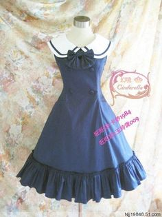 *** Recommendation: College Style Lolita Jumper Dress >>> http://www.my-lolita-dress.com/college-style-royal-blue-lolita-spring-dress [★Only $49.99★]
