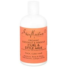 Shea Moisture Conditioning Curl Milk by Shea Moisture. $14.00. Detangles. Controls Curls. Restores Shine. Conditions. Shea Moisture Coconut Hibiscus Curl & Style Milk has coconut oil, silk protein and neem oil that adds moisture, body and shine to your curls. Keeps curly hair frizz-free, shiny and healthy.