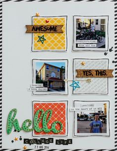 #papercraft #scrapbook #layout. Hello College Life by dpayne at @studio_calico