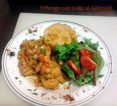 Trifongo Con Pollo Al Ajilimójili
