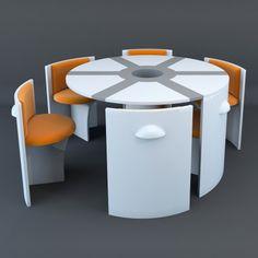 Small House Furniture, Space Saving Furniture, Furniture Layout, Home Decor Furniture, Pallet Furniture, Kitchen Furniture, Furniture Decor, Furniture Design, Pink Furniture