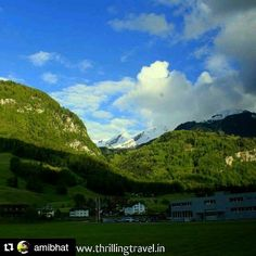 #Repost @amibhat with @repostapp  Follow back for travel inspiration and tag your post with #talestreet to get featured.  Join our community of travelers and share your travel experiences with fellow travelers atHttp://talestreet.com  One from my #switzerland trip... My first glimpse of the snow capped #alps  Join me on my #travel on my blog http://ift.tt/1MZLJfP  #engleberg #livetravelchannel #theuncommonbox #theworldguru #travelchannel #mountains #talestreet #naturelovers #mountain #green…