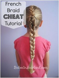 French Braid Hairstyle for Little Girls