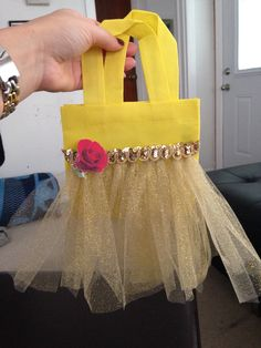 Belle AKA beauty and the beast tutu goody bag